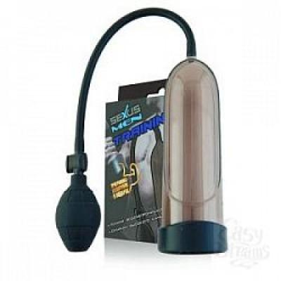 Помпа для пениса (Sexus), вакуумная, механическая, ABS пластик, черный, 25см
