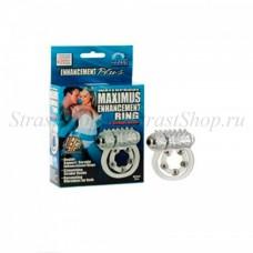 Эрекционное вибро-кольцо Waterproof Maximus Enhancement Ring с 5-ю металлическими шариками (SE-1456-10-3)