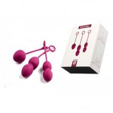 Вагинальные шарики Nova Ball  со смещенным центром тяжести цв. розовый (SSYB01-MH)