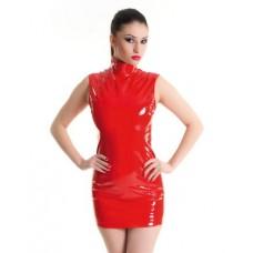 Платье на молнии красное-M (9550 M RED)