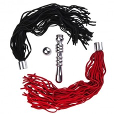 Анальная втулка с двумя сменными плетками (черная и красная) 712015 (712015)