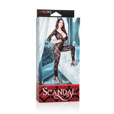 Боди Scandal Lace Body Suit черное