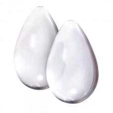 Вагинальные шарики Cryst'al Kegel eggs из стекла большие прозрачные (NSN-0703-21)