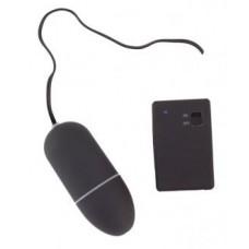 Виброяйцо 8 см с пультом ДУ водонепроницаемое черное BlackRed (901001-5)