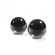 Вагинальные шарики Small Black Glass Ben-Wa Balls из стекла черные (PD4433-23)