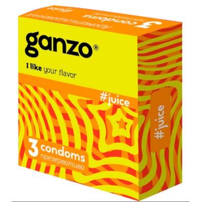 Презервативы Ganzo Juice №3 Ароматизированные 3 шт.