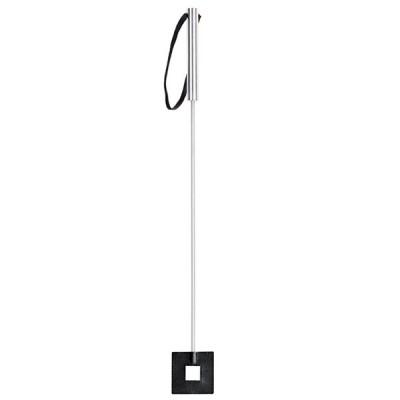 Стек Sitabella металлический с квадратным кожаным наконечником черный