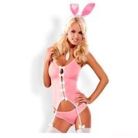 Костюм зайки Bunny Suit, розовый (Obsessive) (L/XL)