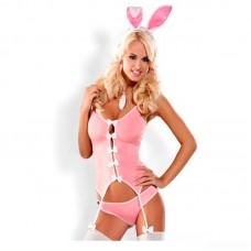 Костюм зайки Bunny Suit, розовый (Obsessive) (L/XL) (OB0502L/XL)