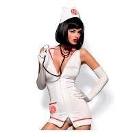 Костюм медсестры Emergency dress (Белый, XXL)