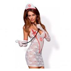 Костюм медсестры Medica Dress (Obsessive) (SM) (OB3002S/M)