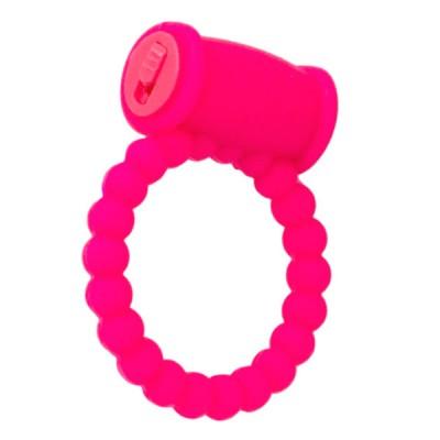 Виброкольцо силиконовое A-toys розовое
