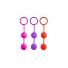 Вагинальные шарики розовые 3см (46702-3)