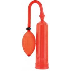 Вакуумная помпа для мужчин 23 см, с большой грушей, красная