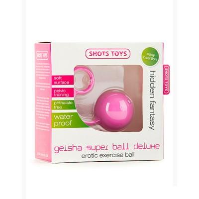 Вагинальный шарик Shots toys Geisha Super Ball Deluxe розовый