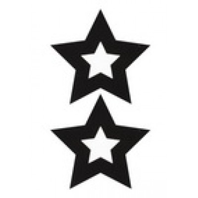 Украшение на соски Nipple Stickers в форме звездочек черное