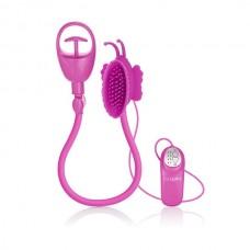 Помпа клиторальная с вибрацией ADV Butterfly Clit Pump-pink (SE-0612-10-3)