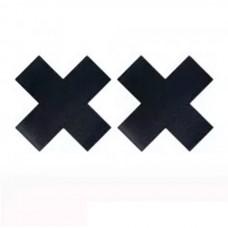 Saya - Наклейки на соски (пэстис) в форме крестов черные