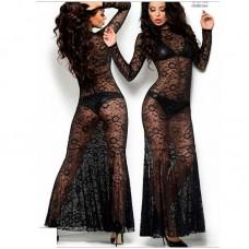 Платье черное Long Dress (ChiliRose) (M) (ChiliRose4049M)