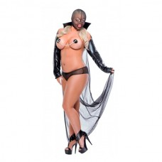 Костюм Дьяволица черный, Diva Size