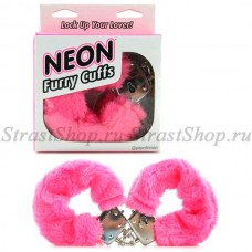 Наручники Neon Luv Touch Neon Furry Cuffs - Pink (PD3809-11)