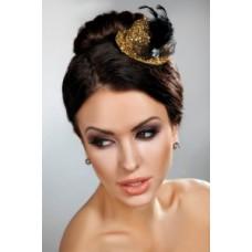 Шляпка заколка модель 12 золото