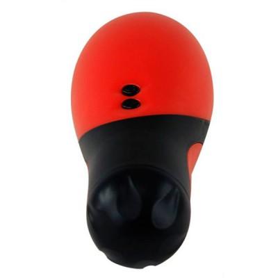 Мастурбатор с вибрацией красный